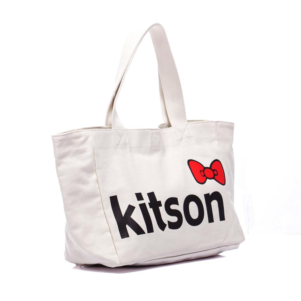 kitson x Ribbon Hello Kitty M Tote (米白)