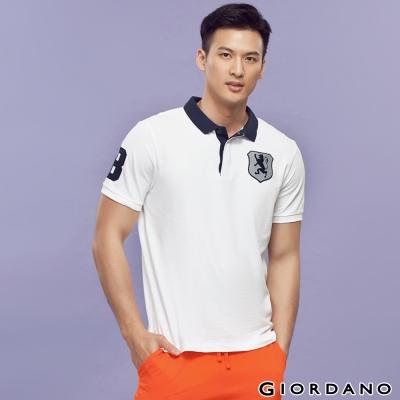 GIORDANO-男裝勝利獅王盾牌POLO衫-21