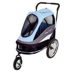IBIYAYA依比呀呀 二代兩用寵物推拖車-藍
