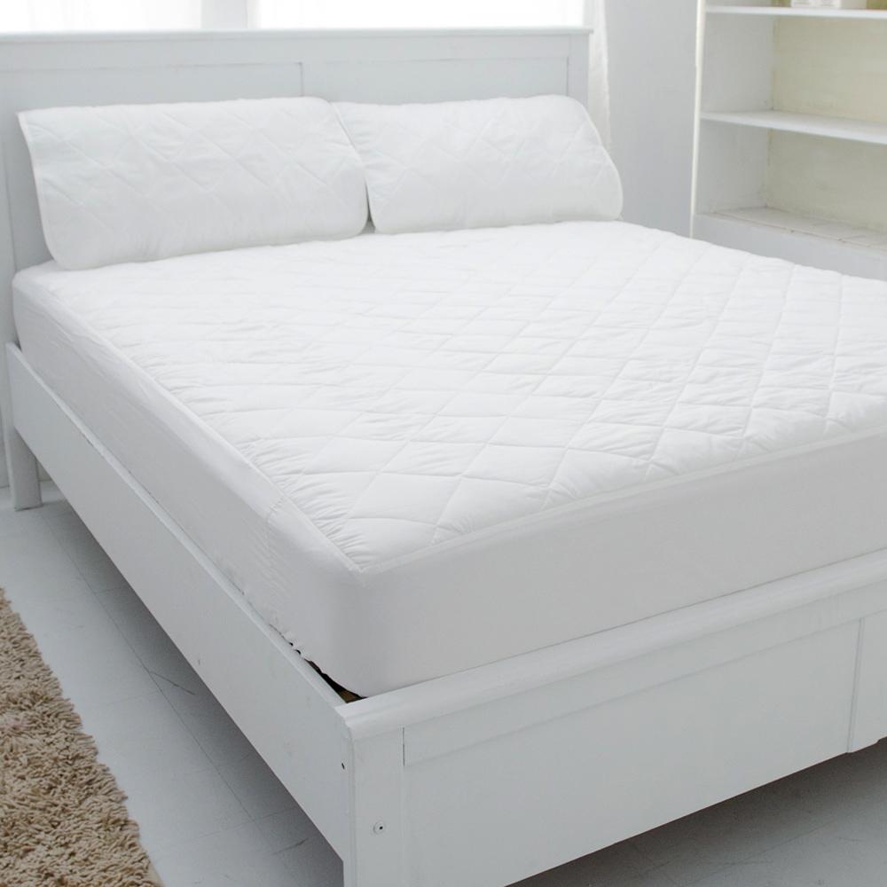 eyah宜雅 台灣製超防水加厚舖棉保潔墊-床包式-雙人加大