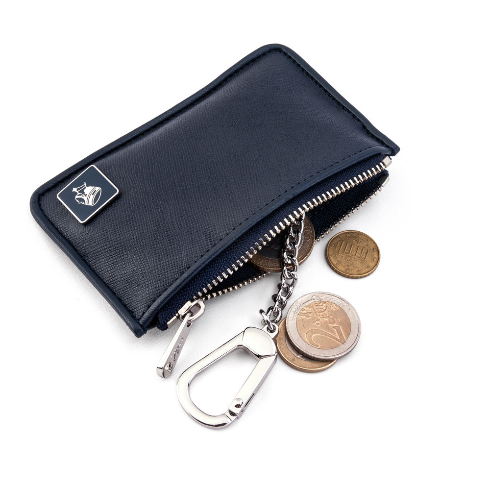 PORTER - 法式時尚BEND鑰匙掛環零錢包(小) - 深藍