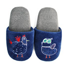 Yvonne Collection公雞胖胖拖鞋-深藍S
