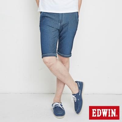 EDWIN 大尺碼迦績褲 涼爽PK牛仔短褲-男-石洗綠