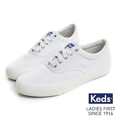 Keds ANCHOR 經典復刻綁帶休閒鞋-白色