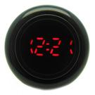 CLICK 復古大圓鍵快打電子腕錶-黑/45mm