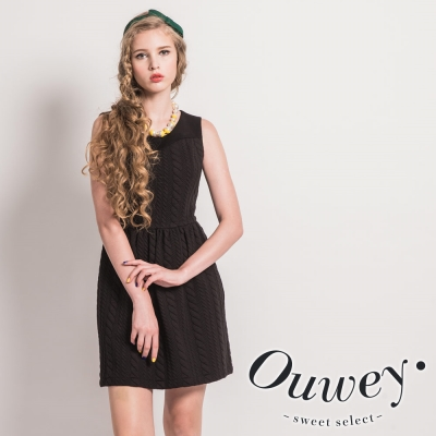 OUWEY歐薇-彈性立體壓紋背心洋裝