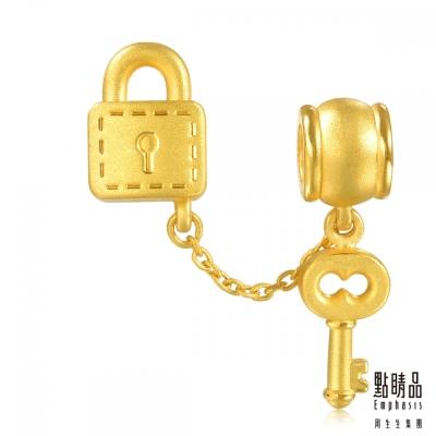 點睛品 Charme 鎖與鎖匙  黃金串珠