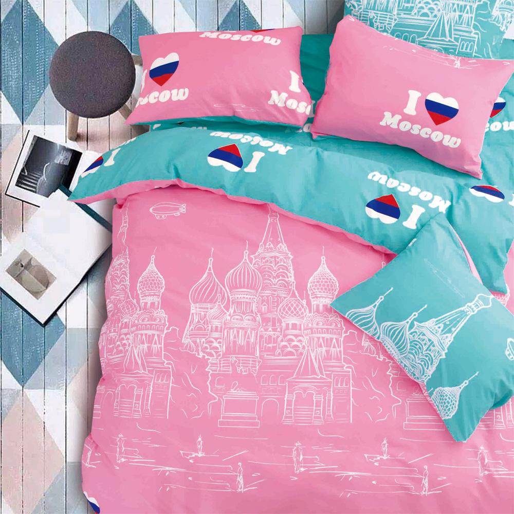 原創本色 城市旅行 舒柔棉加大四件式兩用被床包組