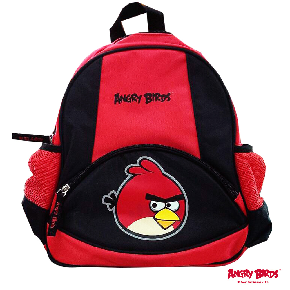 【Angry Birds 憤怒鳥】兒童後背包(紅黑)