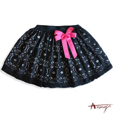Annys華麗蕾絲桃紅大蝴蝶結短裙*6186藍