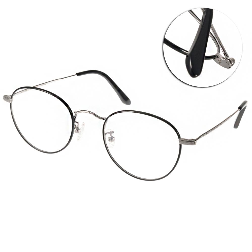NINE ACCORD眼鏡 復古圓框/黑-銀#PLACO FL1 C05