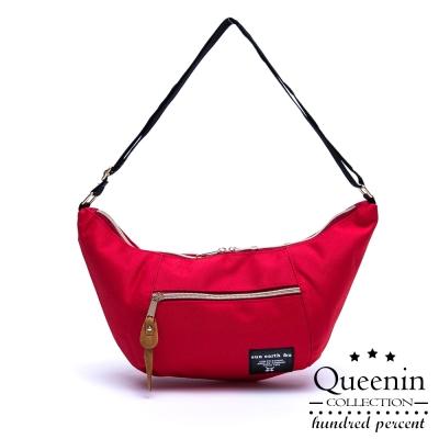 DF Queenin日韓 - 日本暢銷芭娜娜款隨身側背包-橘紅