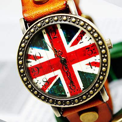 Ebusan BOBO 復古英倫風情皮革錶-橘/29mm