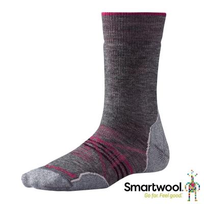 SmartWool 羊毛襪 女 PhD戶外中級減震中長襪 中性灰