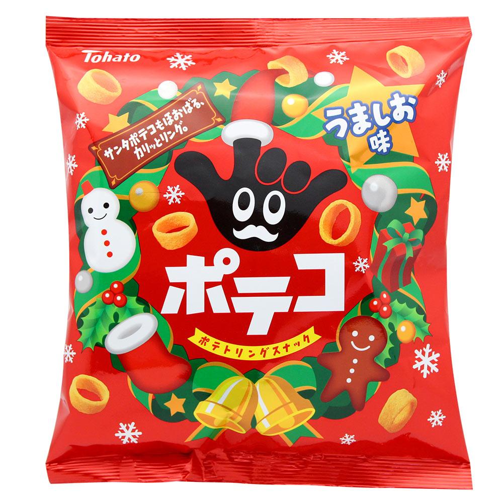 !東鳩  手指圈圈餅-鹽味(聖誕節限定)(77g)