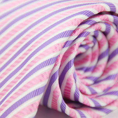 Alpaca-粉色紫斜紋領帶