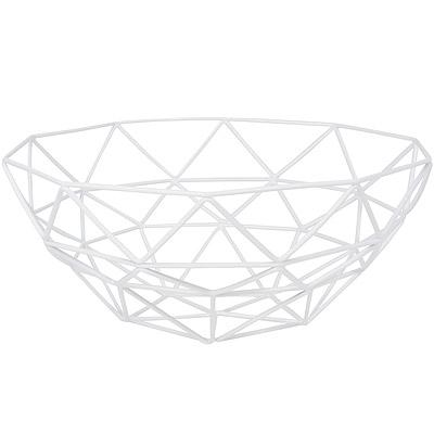 DANICA 角格紋水果盤(白)