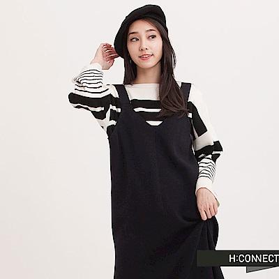 H:CONNECT 韓國品牌 女裝 - 羊毛混紡細肩針織洋裝 - 藍 - 動態show