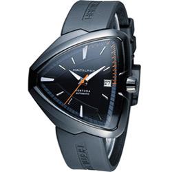 Hamilton Ventura 貓王探險機械腕錶-黑/42mm