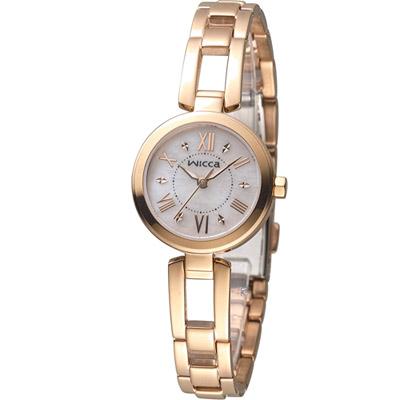 WICCA 英倫靚麗時尚腕錶(-929-1)-玫瑰金/24mm