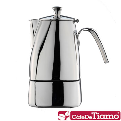 Tiamo 不鏽鋼505摩卡壺6杯(HA2288)