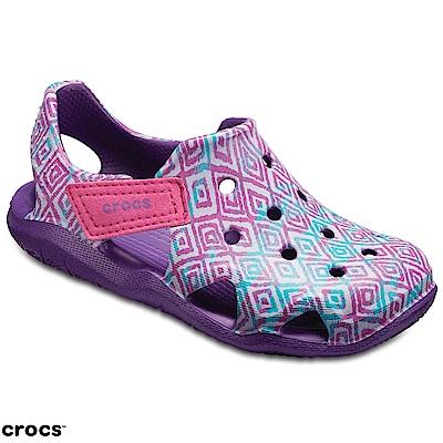 Crocs 卡駱馳 (童鞋) 激浪圖案涉水童鞋 204990-57H