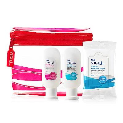 VIGILL 婦潔 私密清潔旅行3件組(生理45ml+嫩白45ml+舒巾12入1包)