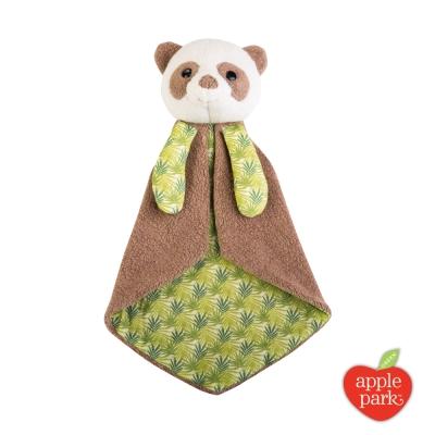 美國 Apple Park 有機棉安撫巾禮盒 -  綠葉貓熊
