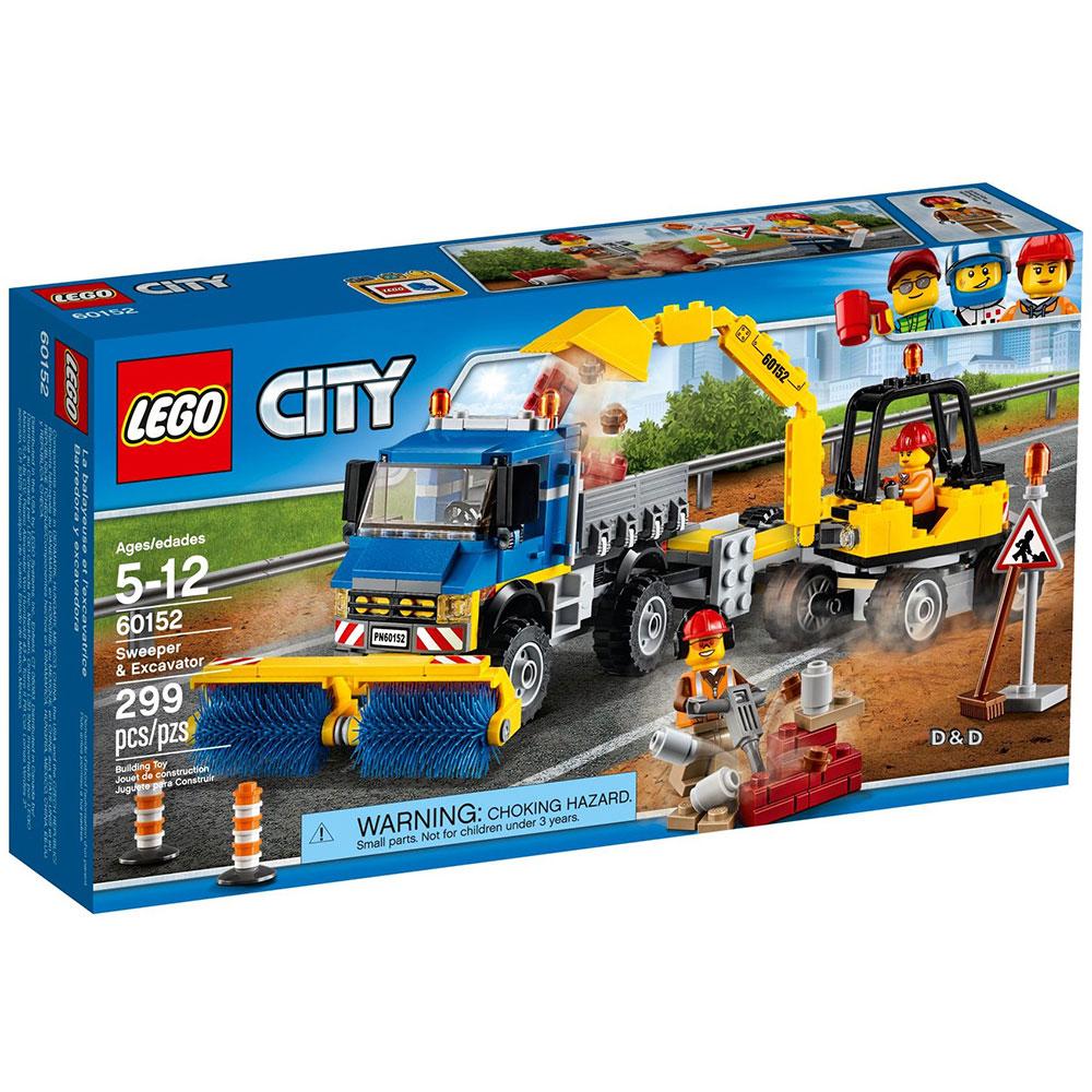 樂高LEGO城市系列 - LT60152 掃街車與挖掘機