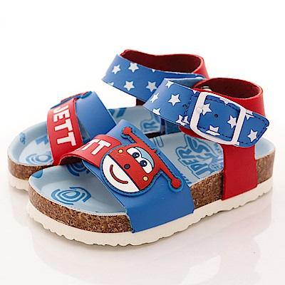 SUPER WINGS 軟木涼鞋款 EI3808 紅 (小童段)