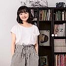 東京著衣-KODZ 酷琪琪聯名親膚極簡素色棉質上衣-女-S.M.L(共二色)