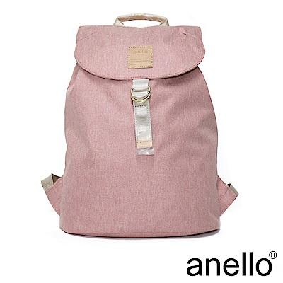 日本正版anello 高雅混色紋理 輕便型束口後背包 淺粉色 NPI