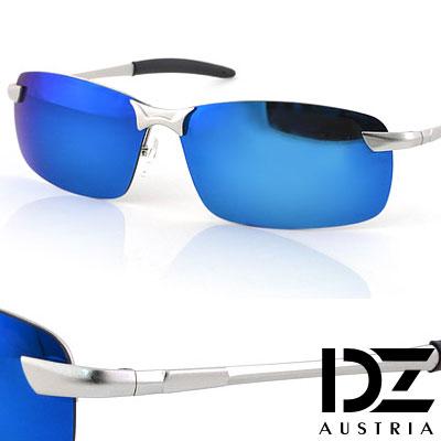 【2件59折】DZ 型潮格調 抗UV 偏光太陽眼鏡墨鏡(冰藍膜)