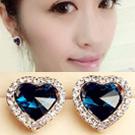 Seoul Show 愛心水晶滿鑽時尚針式耳環