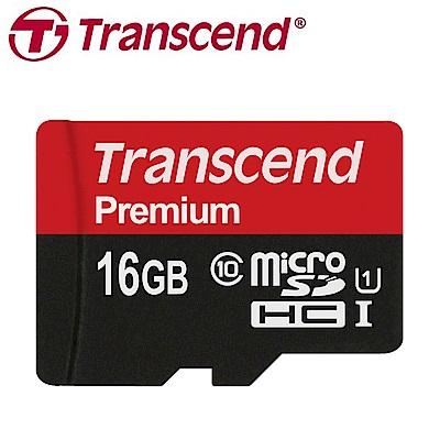 創見 16GB microSDHC UHS-I 記憶卡(附轉接卡)