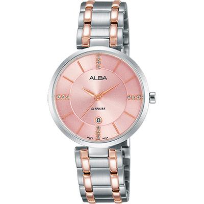 ALBA 專屬於妳限量東京石英女錶(AH7L27X1)-粉x雙色/30mm
