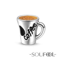 SOUFEEL索菲爾 925純銀珠飾 香濃咖啡 串珠