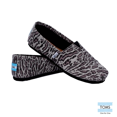 TOMS 經典豹紋懶人鞋-女款(黑)