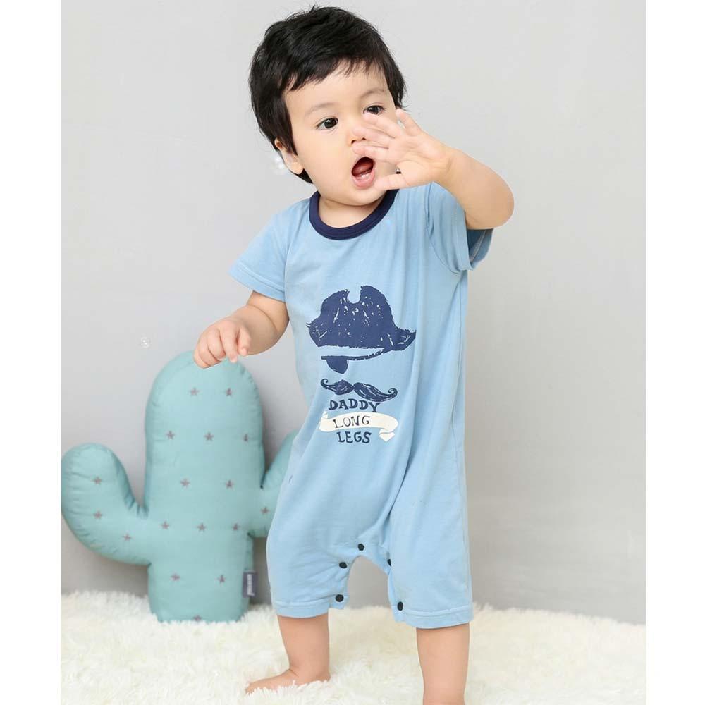 Baby unicorn 淺藍海盜短袖連身衣包屁衣
