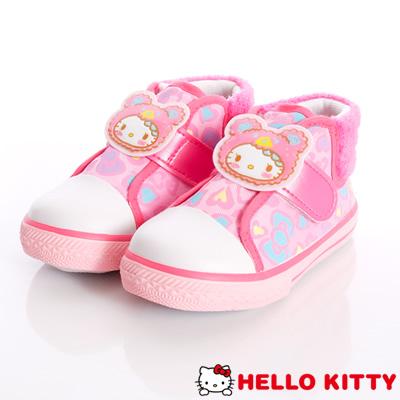 HelloKitty童鞋-護踝豹紋時尚款-714809粉(中小童款)