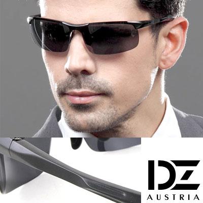 【2件59折】DZ 競速狂潮 抗UV 偏光太陽眼鏡墨鏡(酷黑)