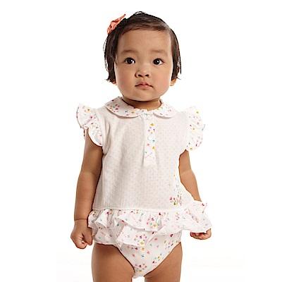 愛的世界 MYBABY 娃娃領荷葉邊無袖包屁衣/6M~3歲
