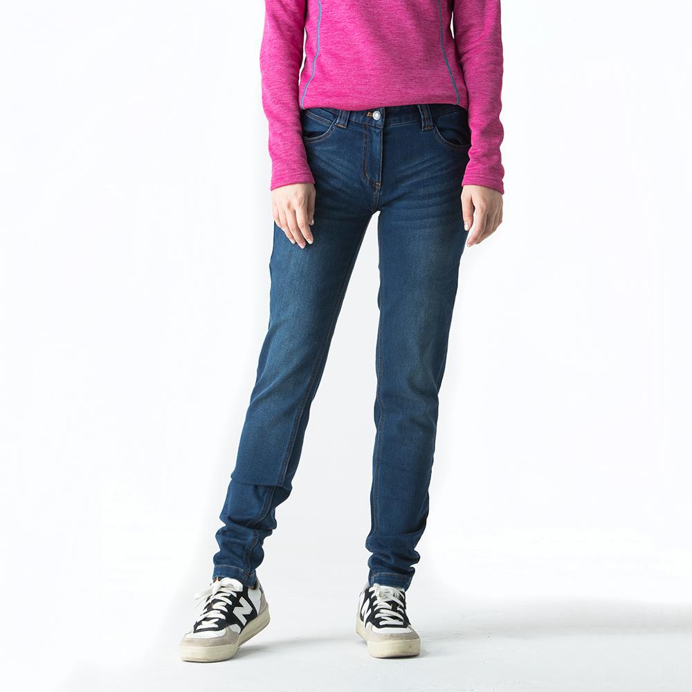 ATUNAS 歐都納 女款牛仔風格長雪褲 透氣/保暖/耐磨 A-PA1622W 藍