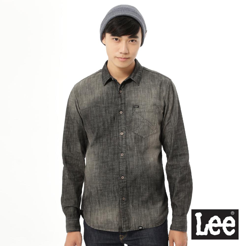 Lee 牛仔Regional長袖襯衫- 男款-灰