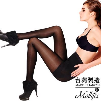 Mollifix-踮腳尖日常微壓美腿襪-黑