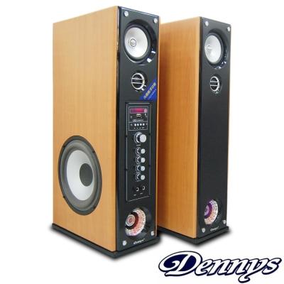Dennys藍牙超重低音多媒體落地型喇叭-黃木色(CS-699)