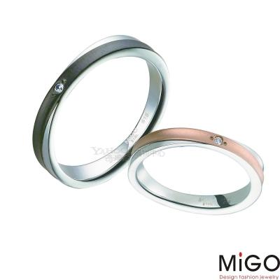 MiGO-相遇對戒(男黑女玫瑰金)