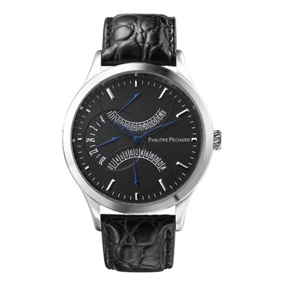 Philippe Pechard  Vantage DT 逆跳腕錶-黑/43mm