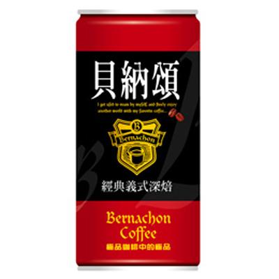 貝納頌 經典義式深焙咖啡(210mlx24入)