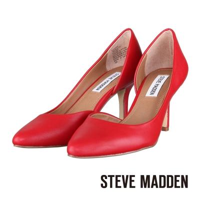 STEVE-MADDEN-優雅實搭側開口素面高跟鞋